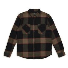 BRIXTON BOWERY L/S FLANNEL SHIRT HEATHER GREY CHARCOAL