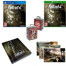 Fallout 4 Xbox One, PS4, Steel Book & Postcards - MINT- Super FAST Delivery FREE