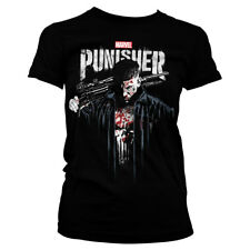 Marvel's The Punisher Official Licensed Ladies/Women's Fitted T-Shirt S-XXL