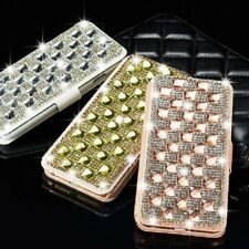 Cover For Samsung Galaxy Luxury Crystal Bling Diamond Flip Leather Case Wallet