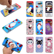 3D Soft Silicone Cat Bear Cat TPU iPhone Case Cover for Samsung Note 8 S8/S8+