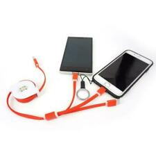 1M Retractable 3 in 1 USB Charging Cable FOR IPHONE ANDROID IPAD SAMSUNG LG HTC