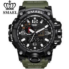 SMAEL Brand Men Sports Watches Analog Digital LED Waterproof Military Gifts Him