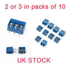 2 or 3 Pin 5mm Pitch PCB Mount Screw Terminal Block Connector UK