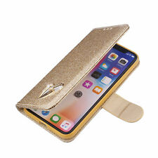 For Samsung Galaxy Note 9 Bling Glitter Sparkly Leather Flip Wallet Case Cover
