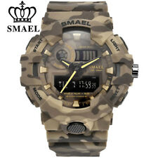 SMAEL Sports Military Watches Army Digital LED 50m Waterproof Gifts For Him Men
