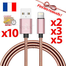 CABLE PARA IPHONE 7 6 5 8 PLUS IPOD DEL IPAD CARGADOR USB METAL REFORZADA COBRE