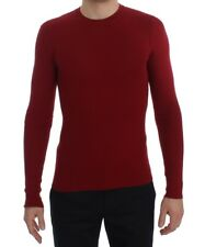 Dolce & Gabbana - Herren Pullover - Red Cashmere Ribbed Pullover Sweater