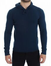 Dolce & Gabbana - Herren Pullover - Blue Cashmere Hooded Sweater Pullover Top