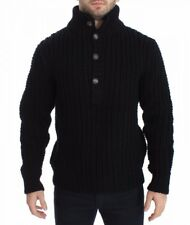 Dolce & Gabbana - Herren Pullover - Black Knitted Wool Sweater Pullover Top
