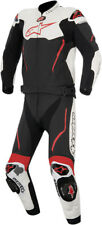 Alpinestars Mens Black/White/Red Atem 2 Pc Leather Riding Motorcycle Race Suit