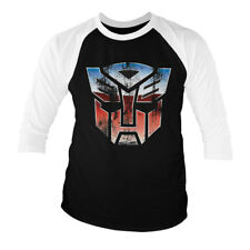 Official Licensed Transformers - Distressed Autobot Shield 3/4 Sleeve T-shirt