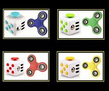 Fidget Spinner and Cube Combo Stress Reliever Hand Finger Toy Gift ADHD Autism