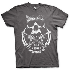 Official Licensed Sons Of Anarchy 1967 Skull Men's T-Shirt S-XXL, Dark Grey