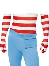 Adult Wheres Wally? Second Skin Body Suit Mens Fancy Dress Stag Party Costume