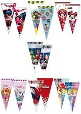 Kids Paw Patrol/Marvel Party Cello Loot Treat Sweet Cone Bags - Pick 1 to 60