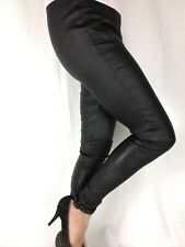 Ladies Firetrap black skinny coated stretchy high waist leggings  Size 10 14 16