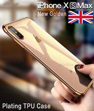 Stylish Hybrid Shockproof Plating Case Silicone Cover for iPhone XS MAX XR