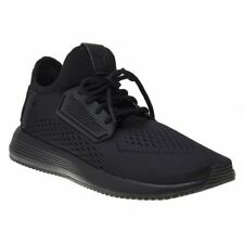 New Mens Puma Black Uprise Mesh Textile Trainers Running Style Lace Up Slip On