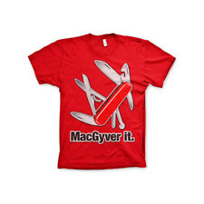 Licenza Ufficiale Macgyver It Uomo T-SHIRT S-XXL