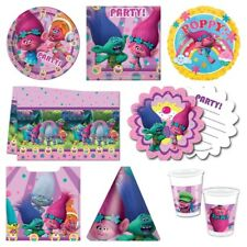 Trolls Girls Birthday Parties Pink Party Supplies Tableware Decorations* Value*