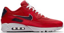 Nike Mens Air Max 90 Essential Running Shoes University Red/Blackened Blue/White
