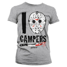 Official Licensed Friday The 13th - I Jason Campers Ladies Fitted T-Shirt S-XXL