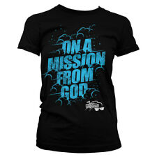 Official Licensed On A Mission From God - Blues Brothers Ladies T-Shirt S-XXL