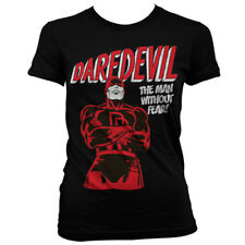 Official Licensed Marvel Comics - Daredevil Ladies Fitted T-Shirt S-XXL Black