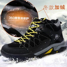 Men's Hiking Trekking Wool Fur inside Outdoor Sneakers Mountain Climbing Shoes