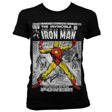 Official Licensed Marvel - Iron Man Cover Girly, Women Fitted T-Shirt S-XXL