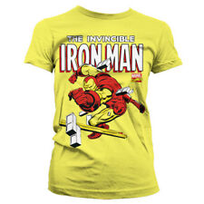 Official Licensed Marvel - The Invincible Iron Man Girly Fitted T-Shirt S-XXL
