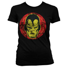 Official Licensed Marvel - Iron Man Icon Girly Women's Fitted T-Shirt S-XXL