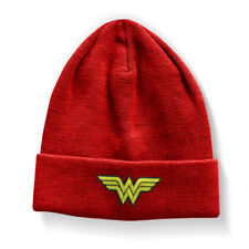 Official Licensed Merchandise Wonder Woman Beanie, Embroidery (One size, Red)