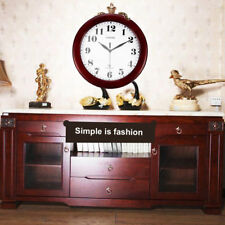 "Wine Red Clock Classic 12"" Atomic Radio Controlled Wall Clock #~"