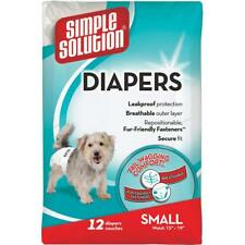 Simple Solution Disposable Female Dog Diapers Extra-Large - 12 Pack