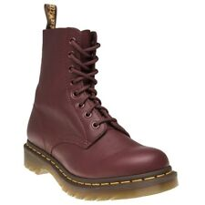 New Womens Dr. Martens Red Maroon 1460 Pascal Leather Boots Ankle Lace Up