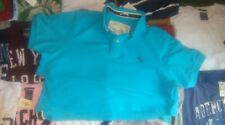 Abercrombie & Fitch mens turquoise polo shirt New with Labels