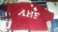 Abercrombie & Fitch mens red ANF crew neck T-shirt New with Labels