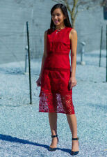 ZARA CONTRAST EMBROIDERED DRESS WITH LACE SIZE: M, L