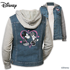 """Bradford Exchange Disney """"Love"""" Mickey Mouse and Minnie Mouse Vested Hoodie"""
