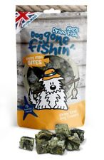 Dog Gone Fishin WHITE FISH BITES 75g - Crunch Baked Treats Chew Food