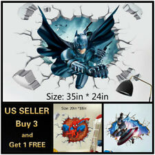 US 3D Wall stickers Superhero Kids Cartoon Room Decal Wallpaper Removable