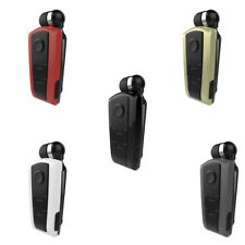 Cuffia senza fili Stereo auricolari Clip-on Bluetooth retrattile per Iphone HTC