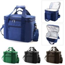 33x20x27cm Oxford Double layer Insulated Lunch Bag Large Capacity Travel