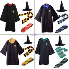 Kids Adult  Harry Potter Hogwarts Cloak Robe Fancy Dress Cosplay Costume Outfit