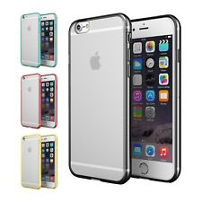 FUNDA BUMPER DE SILICONA TPU GEL TRANSPARENTE PARA iPHONE 6 PLUS SHOCKPROOF FINA