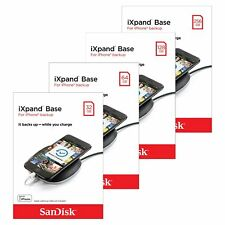 SanDisk 32/64/128/256GB iXpand Base for iPhone X XS Max iPad Backup Fast-Charge