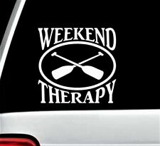 Weekend Therapy Kayak Paddle Oval Decal Sticker for Car Window BG 225 Canoe Boat