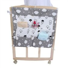 Baby Bed Hanging Storage Bag Cotton Newborn Crib Organizer Toy Pocket Bag